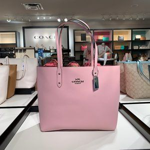 Coach Reversible Smooth Pink Leather Tote
